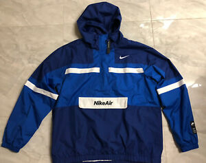NWT Nike Air Men Woven Jacket 1/2 Zip - XL TALL (CJ4834-455) Blue Colorblock