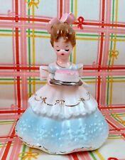 New ListingVntg Josef Originals Figurine Birthday Party Girls Series Lady Girl w/ Cake Rare