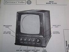 DELCO TV-102 TELEVISION PHOTOFACT