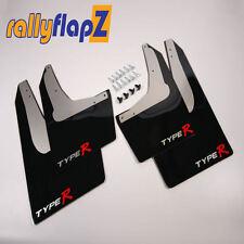 Rallyflapz Kaylan Mudflaps Honda Civic Type R (EP3) Black + Type R Logo
