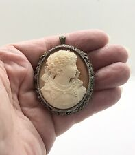 Early 20thC Silver Cameo, Finely Detailed