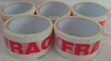 5 X FRAGILE PRINTED STRONG PARCEL TAPE PACKAGING BIG ROLL MULTI LISTING