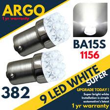 2 X Blanc 9 LED 382 BA15S 1156 P21W 12V Arrêter / Queue Frein Ampoules SMD Xenon