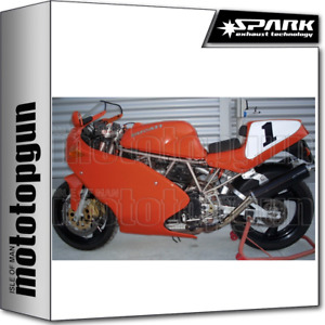 SPARK 2 EXHAUSTS LOW ROUND RACING CARBON DUCATI 900 SS 1991 91 1992 92 1993 93