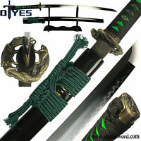 Full Handmade T10 Carbon Steel Clay Tempered Blade Japanese Samurai Katana Sword