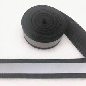 Five Yards Safety Silver Tape Strap Reflective Sew On Fabric Cloth Vest Webbing