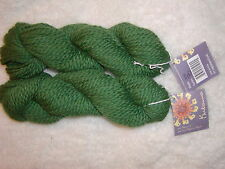 2 Skeins - Mirasol Kutama 50% Alpaca/50% Highland Wool. Color#1915 Green-134 yds