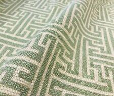 "Kravet Smart Celery & Beige ""Geometric Fretwork"" Contemporary Woven Maze Fabric"