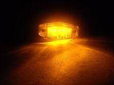 1 x 2.5 Amber LED Clearance Marker Light Optronics Trailer RV Diamond Yellow