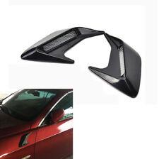 2Pcs Shark Fins Style Car Body Side Air Flow Vent Grille Decorative Stickers