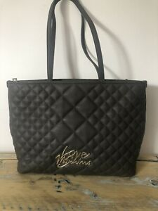Love Moschino Grey Quilted Bag Shoulder/tote