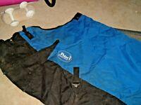 "Turnout Horse Blanket - waterproof -75 "" 600 denier ripstop poly-tail flap-"