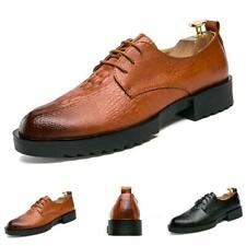 Men Formal Office Leather Shoes Business Work Party Oxfords British Pointy Toe
