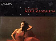 "SANDRA DISCO MAXI SINGOLO 12"" (I' LL NEVER BE) MARIA MAGDALENA B/W PARTY GAMES"