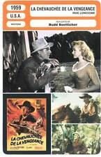 LA CHEVAUCHEE DE LA VENGEANCE - Scott,Van Cleef (Fiche Cinéma)1959 Ride Lonesome