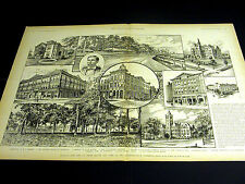 Terre Haute Indiana POLYTECHNIC INSTITUTE McKEEN EDGEWOOD BANK 1889 Large Print