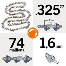 """Chaîne tronçonneuse KERWOOD 74 maillons 0.325"""", 1,6mm"""