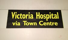 """Blackpool Bus Blind Oct 99(28"""" Wide)- Victoria Hospital Via Town Centre"""