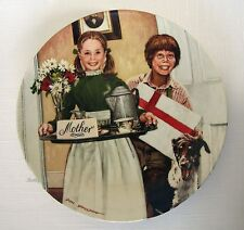 "Knowles Ltd Ed Collector Plate ""Mother'S Day"" By Don Spaulding 1983~Estate Vtg"