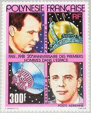 FRENCH POLYNESIA POLYNESIEN 1981 328 C185 Space Weltraum Gagarin Shepard MNH