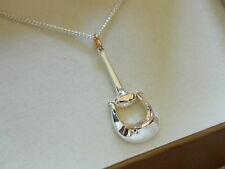Clogau Silver & Rose Welsh Gold Wales Polo Pendant RRP £149.00
