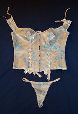 "NWOT Elegant Moments ""SERIOUS"" Corset and Panty SZ 40"