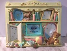 Ceramic Photo Frame Child Room/ Nursery Multiple Openings Pastel Colors