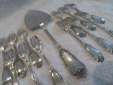 Superbe service à gateaux 13p métal argenté empire (pastry cutlery set) Ravinet