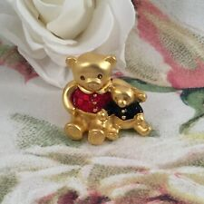 vintage Estee Lauder Solid Beautiful Perfume gold compact box Teddy Bears