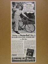 1941 Schwinn Bicycle Bob Hope riding Lightweight Bike photo vintage print Ad