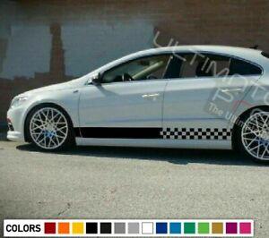 Decal sticker Stripes kit For Volkswagen Jetta A6 R body Wheel Emblem door part