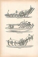 Charrue Scarificateur Etablissement Decauville Aine à Petit-Bourg GRAVURE 1878