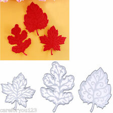 3Pcs Metal Leaves Cutting Dies Stencil For DIY Scrapbooking Embossing Paper Card