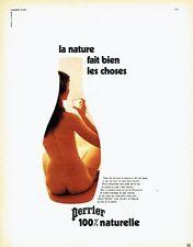 PUBLICITE ADVERTISING 0117  1971  Perrier eau minérale par JC Dewolf