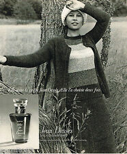 PUBLICITE ADVERTISING 055  1975  JEAN DESSES  les sweaters parfum