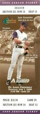 Baseball Ticket Arizona Diamondbacks - 2000 - 6/1 St. Louis Cardinals