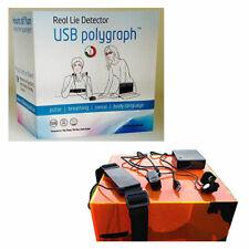 Polygraph Lie Detector USB Pulse Breathing Body Language Sweat Test Kit Machine