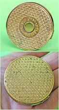 Vintage German '4711 - TOSCANA Zart Puder' Face Powder Brass Box