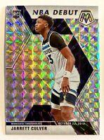 2019-20 Mosaic Jarrett Culver Silver Prizm Rookie Refractor NBA Debut SP RC #263