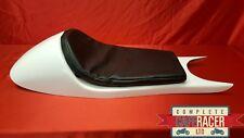 BMW K100 K75 Cafe Racer Asiento En Blanco Gel Abrigo Con Almohadilla Negro