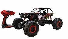 Rock Crawler RC Car 4 Wheel Drive Radio Remote Control Toy 1/10 Scale 2.4Ghz Red