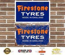 Firestone Tyres Metal Sign Garage Sign Wall Plaque Vintage Retro Man Cave Bar