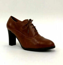 Business Patternless Lace-up Synthetic Heels for Women