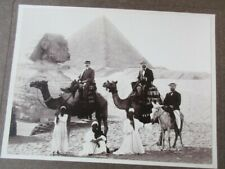 PHOTOGRAPHIE 1900 PERSONNAGE BOURGEOIS (2) CHAMEAU PYRAMIDE GIZEH SPHINX EGYPTE