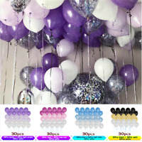 30PCS 10inch Latex Balloon Wedding Birthday Party Helium Balloons Decor Fashion