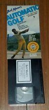 Bob Mann's Automatic Golf The Method Vol 1 & 2 8th Anniversary Edition VHS Tape