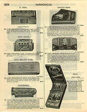 1929 PAPER AD 3 PG Harmonica P Pohl Hotz Pohlphone Hohner Store Display Revolvin