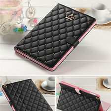 Luxury Crown Slim Smart Wake Leather Case Cover For iPad 2/3/4 Mini Air/Air 2