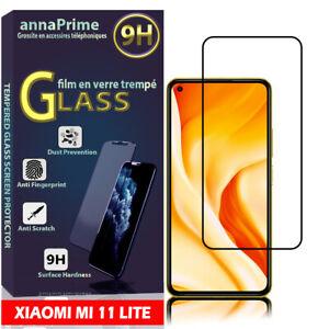 1 Film Verre Trempé Protecteur d'écran NOIR Xiaomi Mi 11 Lite/ Mi 11 Lite 5G