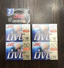 4 New JVC DVC 60 miniDV DVM60ME / M-DV60DU4 Digital Video Cassettes NEW SEALED